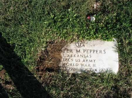 PEPPERS (VETERAN WWII), LESTER M. - Poinsett County, Arkansas   LESTER M. PEPPERS (VETERAN WWII) - Arkansas Gravestone Photos