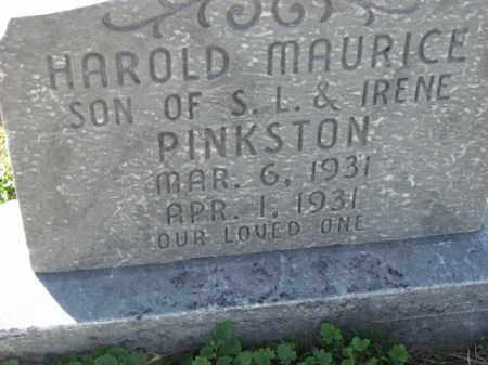 PINKSTON, HAROLD MAURICE - Poinsett County, Arkansas   HAROLD MAURICE PINKSTON - Arkansas Gravestone Photos