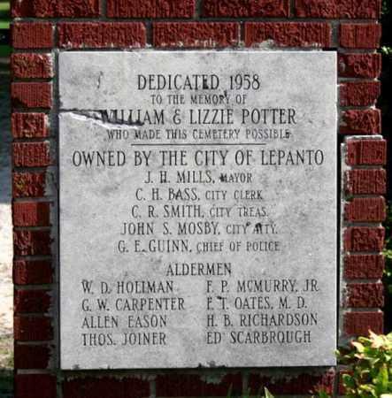 *DEDICATION SIGN,  - Poinsett County, Arkansas |  *DEDICATION SIGN - Arkansas Gravestone Photos