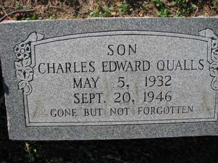 QUALLS, CHARLES EDWARD - Poinsett County, Arkansas | CHARLES EDWARD QUALLS - Arkansas Gravestone Photos
