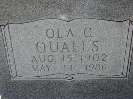 QUALLS, OLA C. - Poinsett County, Arkansas   OLA C. QUALLS - Arkansas Gravestone Photos