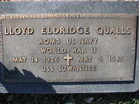 QUALLS (VETERAN WWII), LLOYD ELDRIDGE - Poinsett County, Arkansas | LLOYD ELDRIDGE QUALLS (VETERAN WWII) - Arkansas Gravestone Photos