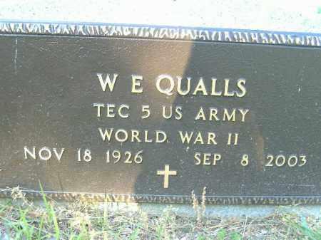 QUALLS  (VETERAN WWII), W E - Poinsett County, Arkansas | W E QUALLS  (VETERAN WWII) - Arkansas Gravestone Photos