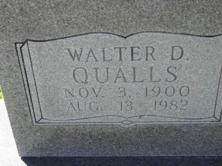 QUALLS, WALTER D. - Poinsett County, Arkansas | WALTER D. QUALLS - Arkansas Gravestone Photos