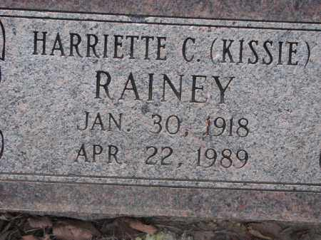 RAINEY, HARRIETTE C. (KISSIE) - Poinsett County, Arkansas | HARRIETTE C. (KISSIE) RAINEY - Arkansas Gravestone Photos