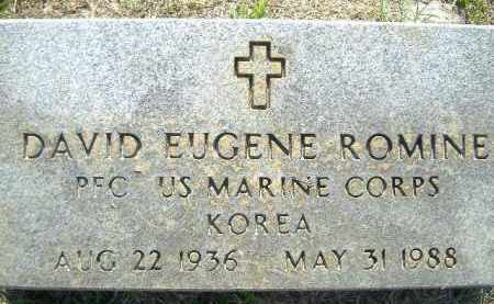 ROMINE  (VETERAN KOR), DAVID EUGENE - Poinsett County, Arkansas | DAVID EUGENE ROMINE  (VETERAN KOR) - Arkansas Gravestone Photos