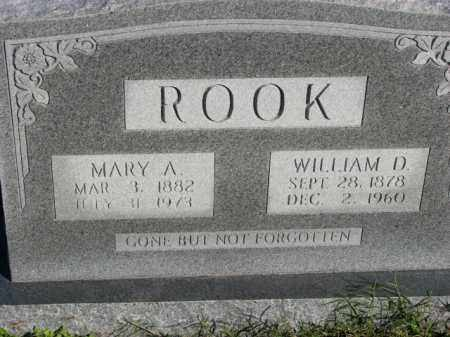 ROOK, WILLIAM D. - Poinsett County, Arkansas   WILLIAM D. ROOK - Arkansas Gravestone Photos
