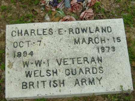 ROWLAND  (VETERAN WWI), CHARLES E - Poinsett County, Arkansas | CHARLES E ROWLAND  (VETERAN WWI) - Arkansas Gravestone Photos