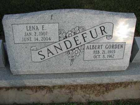 SANDEFUR, ALBERT GORDEN - Poinsett County, Arkansas | ALBERT GORDEN SANDEFUR - Arkansas Gravestone Photos