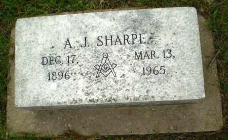 SHARPE, A.J. - Poinsett County, Arkansas | A.J. SHARPE - Arkansas Gravestone Photos