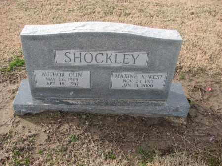 SHOCKLEY, AUTHOR OLIN - Poinsett County, Arkansas | AUTHOR OLIN SHOCKLEY - Arkansas Gravestone Photos