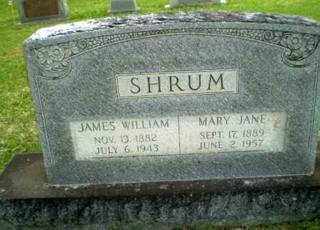 SHRUM, JAMES WILLIAM - Poinsett County, Arkansas   JAMES WILLIAM SHRUM - Arkansas Gravestone Photos