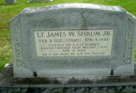 SHRUM, JR (VETERAN), JAMES W - Poinsett County, Arkansas | JAMES W SHRUM, JR (VETERAN) - Arkansas Gravestone Photos