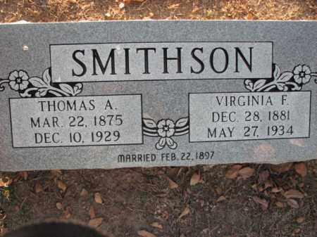 SMITHSON, VIRGINIA F. - Poinsett County, Arkansas   VIRGINIA F. SMITHSON - Arkansas Gravestone Photos