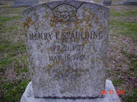 SPAULDING, HENRY E - Poinsett County, Arkansas | HENRY E SPAULDING - Arkansas Gravestone Photos