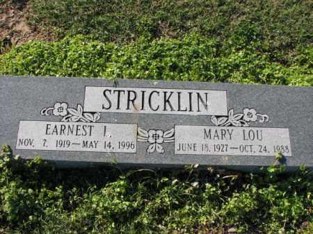 STRICKLIN, MARY LOU - Poinsett County, Arkansas | MARY LOU STRICKLIN - Arkansas Gravestone Photos