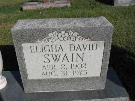 SWAIN, ELIGHA DAVID - Poinsett County, Arkansas | ELIGHA DAVID SWAIN - Arkansas Gravestone Photos