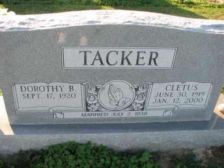 TACKER, CLETUS - Poinsett County, Arkansas | CLETUS TACKER - Arkansas Gravestone Photos