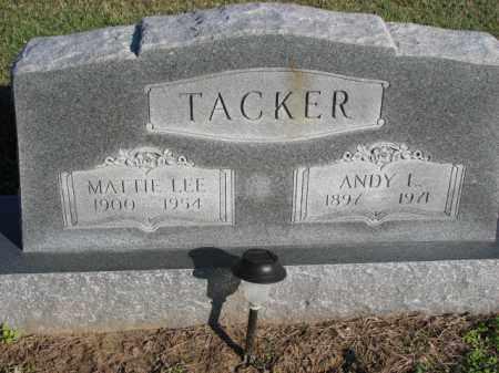 TACKER, ANDY L. - Poinsett County, Arkansas | ANDY L. TACKER - Arkansas Gravestone Photos