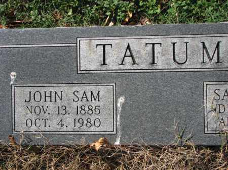TATUM, JOHN SAM - Poinsett County, Arkansas | JOHN SAM TATUM - Arkansas Gravestone Photos