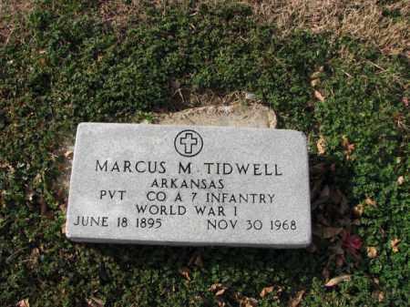 TIDWELL (VETERAN WWI), MARCUS M - Poinsett County, Arkansas | MARCUS M TIDWELL (VETERAN WWI) - Arkansas Gravestone Photos