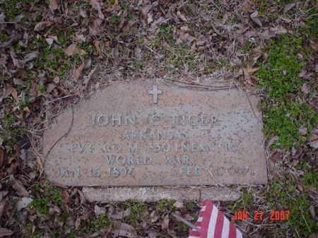 TIGER (VETERAN WWI), JOHN C - Poinsett County, Arkansas | JOHN C TIGER (VETERAN WWI) - Arkansas Gravestone Photos