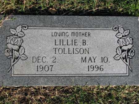 TOLLISON, LILLIE B. - Poinsett County, Arkansas   LILLIE B. TOLLISON - Arkansas Gravestone Photos