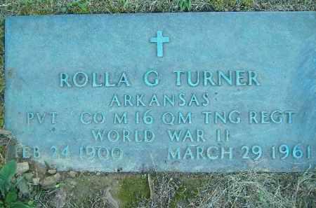 TURNER  (VETERAN WWII), ROLLA G. - Poinsett County, Arkansas | ROLLA G. TURNER  (VETERAN WWII) - Arkansas Gravestone Photos
