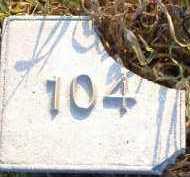 UNKNOWN, MARKER #104 - Poinsett County, Arkansas | MARKER #104 UNKNOWN - Arkansas Gravestone Photos