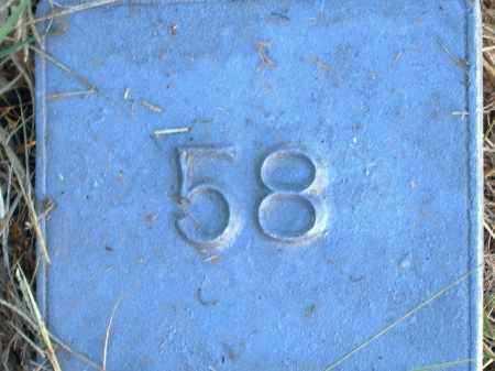 UNKNOWN, MARKER #58 - Poinsett County, Arkansas | MARKER #58 UNKNOWN - Arkansas Gravestone Photos