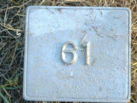 UNKNOWN, MARKER #61 - Poinsett County, Arkansas | MARKER #61 UNKNOWN - Arkansas Gravestone Photos