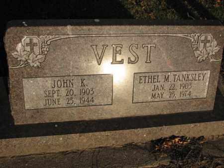 TANKSLEY VEST, ETHEL M. - Poinsett County, Arkansas | ETHEL M. TANKSLEY VEST - Arkansas Gravestone Photos