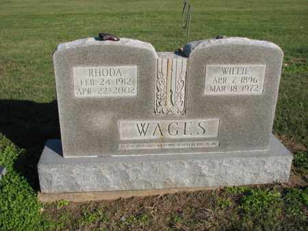 WAGES, WILLIE - Poinsett County, Arkansas | WILLIE WAGES - Arkansas Gravestone Photos
