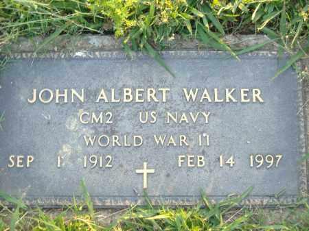WALKER  (VETERAN WWII), JOHN ALBERT - Poinsett County, Arkansas | JOHN ALBERT WALKER  (VETERAN WWII) - Arkansas Gravestone Photos