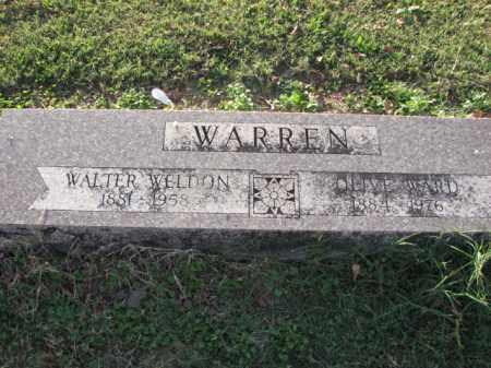 WARD WARREN, OLIVE - Poinsett County, Arkansas | OLIVE WARD WARREN - Arkansas Gravestone Photos
