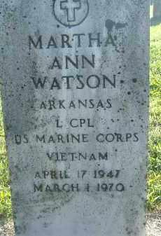 WATSON  (VETERAN VIET), MARTHA ANN - Poinsett County, Arkansas   MARTHA ANN WATSON  (VETERAN VIET) - Arkansas Gravestone Photos