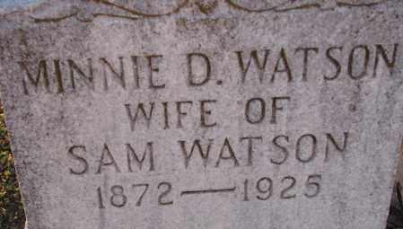 WATSON, MINNIE D. - Poinsett County, Arkansas | MINNIE D. WATSON - Arkansas Gravestone Photos