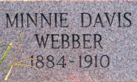 DAVIS WEBBER, MINNIE - Poinsett County, Arkansas | MINNIE DAVIS WEBBER - Arkansas Gravestone Photos