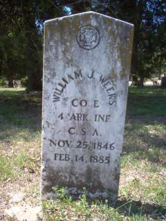 WEEKS (VETERAN CSA), WILLIAM J - Poinsett County, Arkansas   WILLIAM J WEEKS (VETERAN CSA) - Arkansas Gravestone Photos