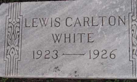 WHITE, LEWIS CARLTON - Poinsett County, Arkansas   LEWIS CARLTON WHITE - Arkansas Gravestone Photos