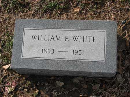 WHITE, WILLIAM F. - Poinsett County, Arkansas   WILLIAM F. WHITE - Arkansas Gravestone Photos