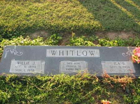 WHITLOW, WILLIE J. - Poinsett County, Arkansas | WILLIE J. WHITLOW - Arkansas Gravestone Photos