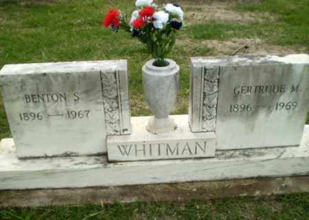 WHITMAN, BENTON S. - Poinsett County, Arkansas | BENTON S. WHITMAN - Arkansas Gravestone Photos
