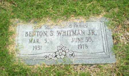 WHITMAN, JR, BENTON S. - Poinsett County, Arkansas | BENTON S. WHITMAN, JR - Arkansas Gravestone Photos