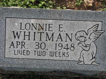 WHITMAN, LONNIE E. - Poinsett County, Arkansas | LONNIE E. WHITMAN - Arkansas Gravestone Photos