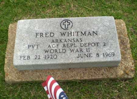 WHITMAN (VETERAN WWII), FRED - Poinsett County, Arkansas   FRED WHITMAN (VETERAN WWII) - Arkansas Gravestone Photos