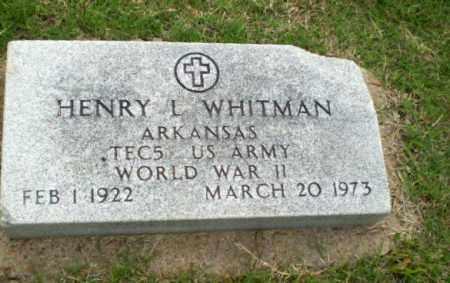 WHITMAN (VETERAN WWII), HENRY L - Poinsett County, Arkansas | HENRY L WHITMAN (VETERAN WWII) - Arkansas Gravestone Photos