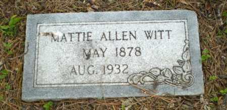 ALLEN WITT, MATTIE - Poinsett County, Arkansas   MATTIE ALLEN WITT - Arkansas Gravestone Photos
