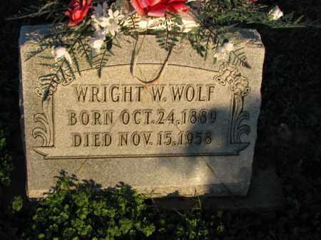WOLF, WRIGHT W. - Poinsett County, Arkansas | WRIGHT W. WOLF - Arkansas Gravestone Photos