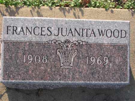 WOOD, FRANCES JUANITA - Poinsett County, Arkansas   FRANCES JUANITA WOOD - Arkansas Gravestone Photos